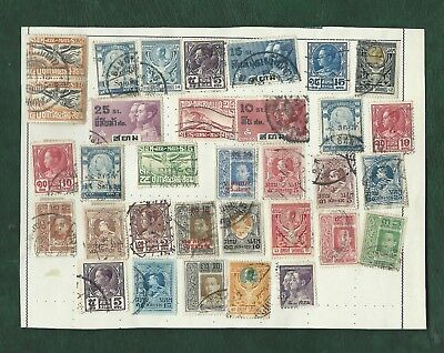 Thailand Siam nice lot of MH and used old stamps on album pages (i)