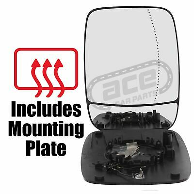 Fiat Ducato Mk4 Van 5//2014-/> Heated Convex Lower Wing Mirror Glass Drivers Side