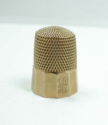 Simons c1900 Antique Solid Gold Number 9 Sewing Thimble
