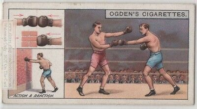 Boxers Demonstrate Equal and Opposite Action and Reaction c90 Y/O Trade Ad Card