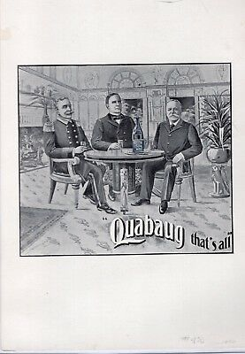 1900 Quabaug Spring Water Ad with President McKinley