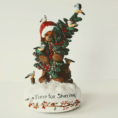 San Francisco Music Box Company Bear Figurine Have Yourself a Merry Christmas