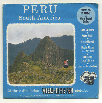 PERU South America Sawyer's 1957 ViewMaster Packet B-086 Exc. Condition
