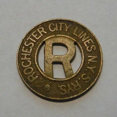 Rochester Ny Transit Token 780D City Lines N.y.s. Rys Substitute One Cash Fare