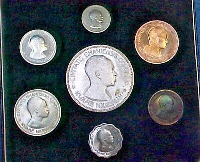 1958 GHANA Proof Set African Independence Silver Crown Size 10 Shillings KM# PS1