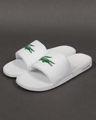 8a8a7942f Lacoste Fraisier Pool Slides in White   Green - flip flop beach shoes  sandals