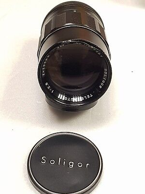Soligor 135mm 1:3.5 Lens NIKON FIT * DAMAGED SELLING FOR PARTS OPTICS ARE CLEAN
