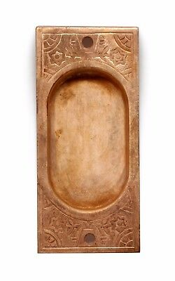 Vintage Cooper Over Brass Pocket Door Plate