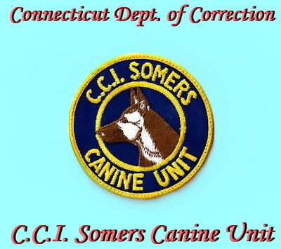 Connecticut Department of Correction SOMERS STATE PRISON Used Police Patch!!!
