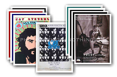 CAT STEVENS - 10 promotional posters - collectable postcard set # 3