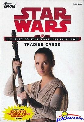 2017 Topps Star Wards Journey to The Last Jedi EXCLUSIVE Sealed Hanger Box