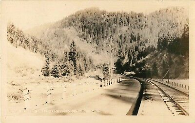 c1930 Hiway Between Mullan and Wallace, Idaho Real Photo Postcard/RPPC