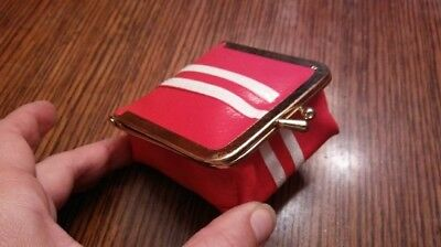 Vintage Red with White Stripe Travel Sewing Kit