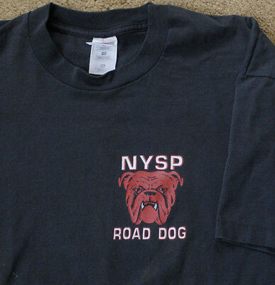 NYSP Road Dog New York State Police black t shirt size XL short sleeve