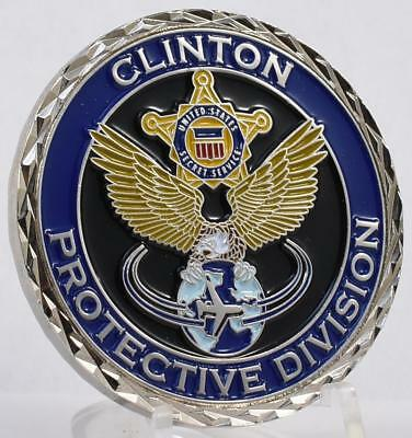 US Secret Service Challenge Coin PPD President Bill Clinton Protective Division