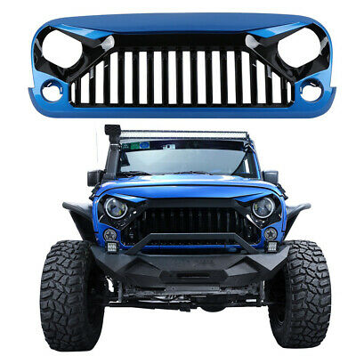 Red/Black Paint ABS Front Gladiator Grille Grill Hood for Jeep Wrangler JK 07-18