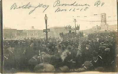 1918 Victory Day Parade, Providence, Rhode Island Real Photo Postcard/RPPC