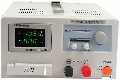 TekPower TP10015E DC Adjustable Switching Power Supply 100V 15A Digital Display