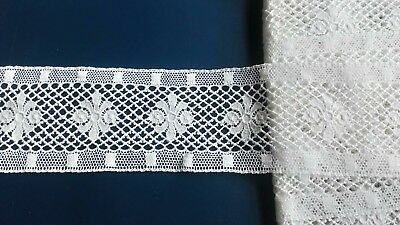 Exquisite White Cotton Lace Edging Insertion Floral Bridal Wedding Dress Garter
