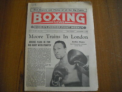 BOXING NEWS - DECEMBER 2nd 1955 - ARCHIE MOORE, YVON DURELLE