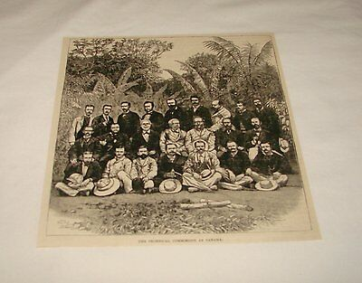 1886 magazine engraving~ TECHNICAL COMISSION, Panama Canal