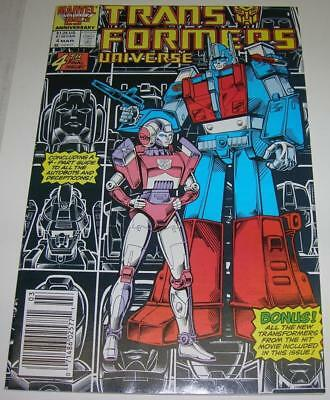 TRANSFORMERS UNIVERSE #4 (Marvel Comics 1987) Guide to all characters (VF-) RARE