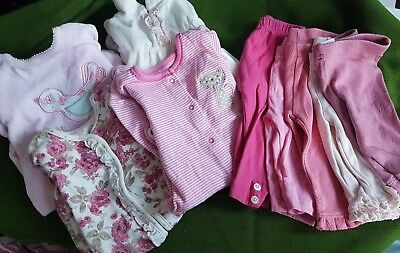 Job lot bundle baby girls clothes 4 sleepsuits 5 leggings 0-3 months  L3
