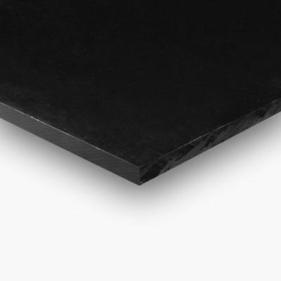 "HDPE (High Density Polyethylene) Plastic Sheet 1/4"" x 24"" x 24"" Black stock"