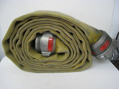 Action USA 4 Fire Hose with Male / Female Couplings Wide Yellow Firefighting #2