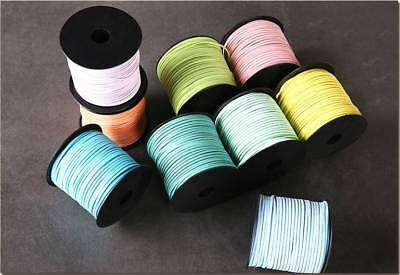 Wholesale 5 Yards 2.9mm Width Korea Faux Suede Flat Leather Cord Rope