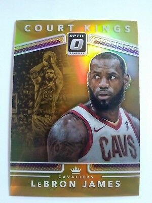 LeBron James 2017-18 Optic Court Kings Gold Prizm #10/10 Cavaliers