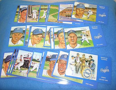 Complete Set of 72 BROOKLYN DODGERS POSTCARDS Artwork by SUSAN RINI