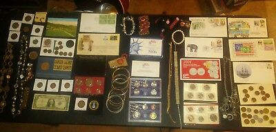 BIG coin lot collection MINT SETS SILVER C IKE JEWELRY BANK BAG +NO JUNK DRAWER