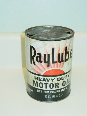 Vintage Motor Oil Can, Ray Lube Heavy Duty Motor Oil, Advertising Can