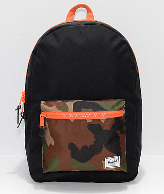 7c0344c8cb HERSCHEL SUPPLY CO. Heritage Black Woodland Camo Backpack NEW ...