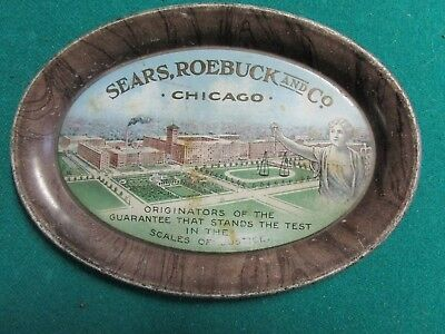 Antique Advertising Tip Tray Sears Roebuck And Co. Early 1900S