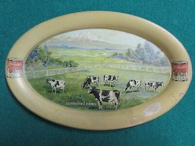 Antique Advertising Tip Plate. Carnation Milk. Early 1900.