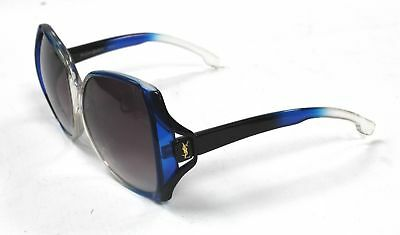 YSL Yves Saint Laurent 7891-1 Blue & Clear Ombre Oval Frame Sunglasses  - C59