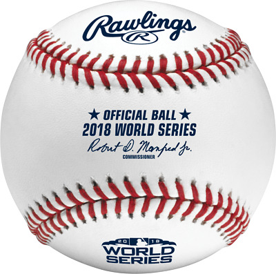 Authentic 2018 MLB World Series Rawlings Official On-Field Baseball