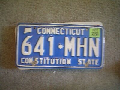 Connecticut Blue      License Plate    Buy All States Here