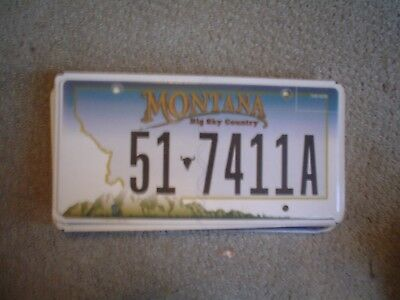 Montana Bigsky   License Plate    Buy All States Here