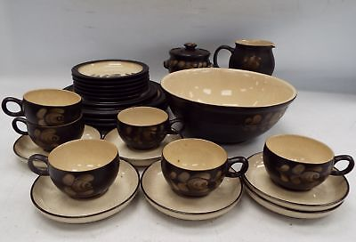 DENBY Handcrafted Fine Stoneware 26 Pieces Bakewell Tea/Dinner Set - R34