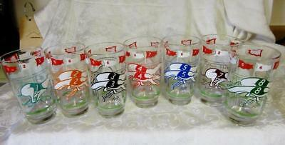7 BOSCUL SWANKY SWIG  GREYHOUND RACING DOGS  Peanut Butter GLASSES    VGC
