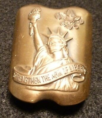 Boy Scout - Strengthen the Arm of Liberty Neckerchief Slide