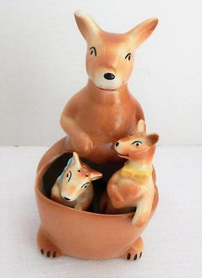 Vintage KANGAROO Mother & 2 Joeys SALT & PEPPER Shakers