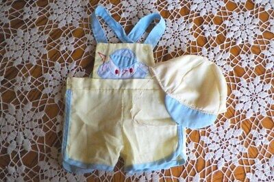 Mayfair Baby Boy Vintage Romper And Hat Yellow 3-6 Month