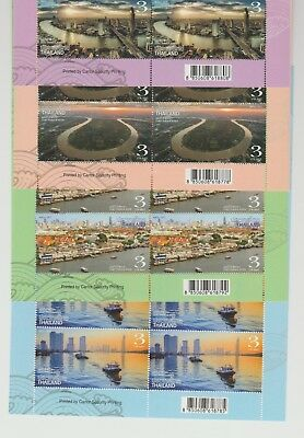 Thailand Chao Praya River Stamp Set 2017 Set of 4 Large Pictorial Stamps