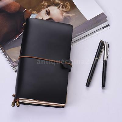 PU Leather Journal Diary Notebook Lined Blank Paper Planner Travel Notepad A4J9