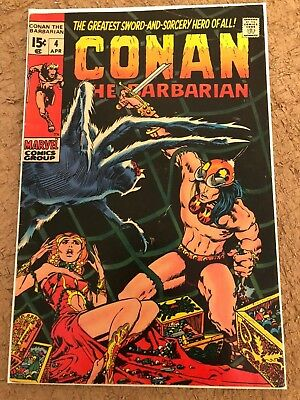 CONAN THE BARBARIAN #4 - Barry Smith art - Bronze Age 1971 - FN+ to FN/VF