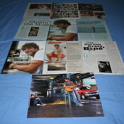 HUGE LOT of 10+ BILLY CURRINGTON Magazine Article Photo Clippings
